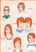 Weasley children by Melly-melo