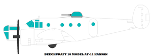 Beechcraft 18 Model AT-11 Kansan by mcspyder1