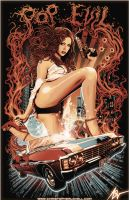 Hell on Heels - Pop Evil - Christopher Lovell Art by Lovell-Art