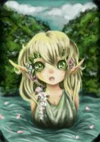 Forest elf by RaelXArts