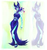 Maleficent's Formal Attire by paje-chan