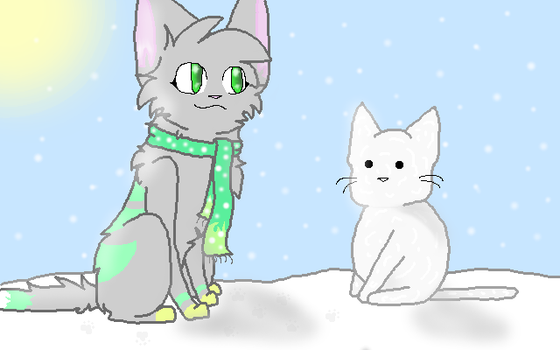 snow kitty by xX-minty-Xx