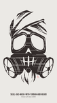 Skull-Gas-Mask-With-Turban-And-Beard by biasawae