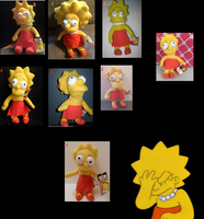 Mob of Lisa Simpson Plushie Monstrosities by cyngawolf