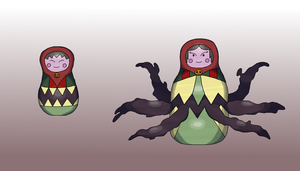 Nesting Doll Fakemon by Shuckled