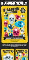Diamond Skulls Poster / Flyer by lickmystyle