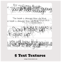 Text Textures by ManGo-01