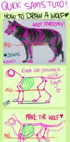 Tutorial - How to draw a wolf by Kasamm
