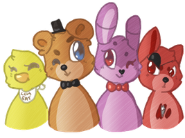 Freddy And His Crew by DrawnPup