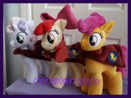 mlp plushie commission Cutie Mark Crusaders by CINNAMON-STITCH