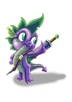 Spike the Adventurer by DinoDraketakethecake