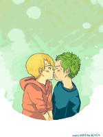 ZoSan: It's just a simple kiss by KohiChapeau