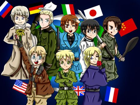 Axis Powers and Allied Forces by KawaiiAnimeGirlxox