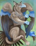 Gryphon with Tea Leaves by TernFeather