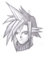 Cloud Strife by cyndicyanide