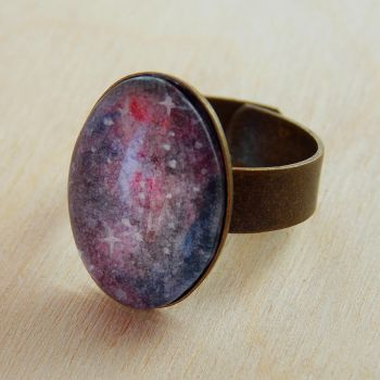 Hand-painted galaxy ring by Kyandi-charms