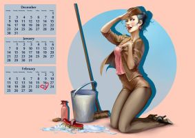 Aion: Pin up calendar page by NanoeTetsu