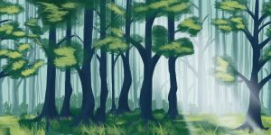 Forest Speedpaint by TheDonQuixotic