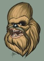 Chewbacca warm up sketch by MBorkowski