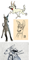 Sketch Dump 13 by CanisAlbus