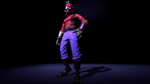 I gave my pyro cool 90s pants by mistake by BeadedDragon600