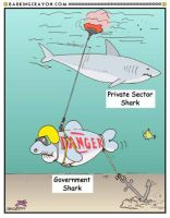 Shark Week Cartoon No. 5 by Conservatoons