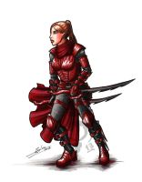 Vitta the Red Mantis by CrescentMoon