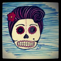 Pin Up Skull by atomikheart