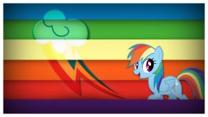 Rainbow Dash - Cutie Mark Wallpaper by Clone26