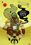 Boba Fett by cheshirecatart