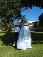 Miku and Kaito Cendrillion Vocaloid by seriouslyblondie
