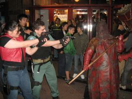 Claire and Chris vs Kifu by Chris--Redfield