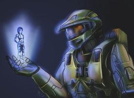 Master Chief and Cortana by Onosaka-Yuha