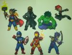 Avengers Perler by thewiredslain