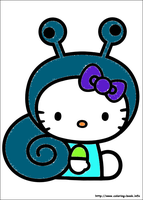 Hello Kitty coloring page 3 by YukiAtem12