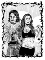 ROWDY: Roddy Piper and Ronda Rowsey by CEZacherl