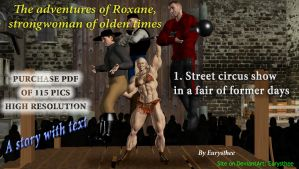 Roxane, street circus show in  a fair of formerly by eurysthee