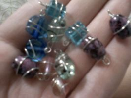 Wire wrapped Beads by EllasDesigns