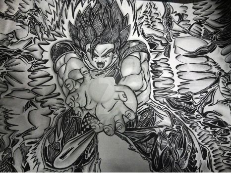 Goku-Abstractly by ArtistAbstractly
