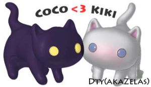 coco and kiki in 3D by zelas