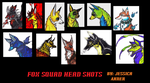fox squad head shots by kitsunefire7