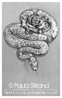 Rosey Snake by hatefueled