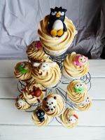 Sanrio cupcake tower by I-am-Ginger-Pops