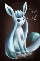 Glaceon Painting by canarycharm