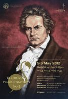Beethoven's poster illustration by aaronwty