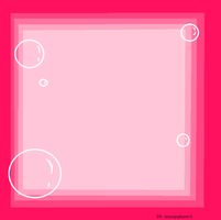 pink bubble frame by snoopyluver5