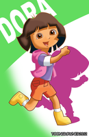 teen Dora still explorer by toongrowner