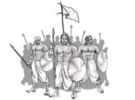 Three Warriors by saraswathi