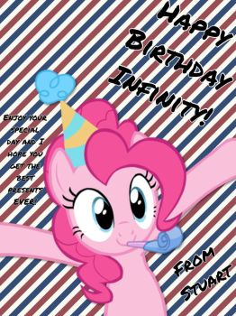 A birthday card for InfinityQuillThePony by ColdestAndOldest