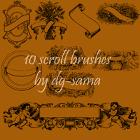 10 Scroll Banner brushes by dg-sama